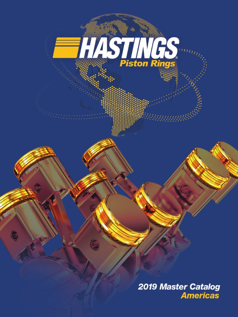 Hastings 2C6818060 4-Cylinder Piston Ring Set