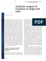 Periodontal Plastic Surgery of Gingival Recessions at Single and Multiple Teeth