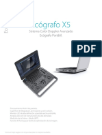 Ecografo Sonoscape x5 Ficha