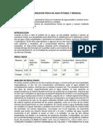 Práctica 1. Caracterización Física de Agua Potable y Residual