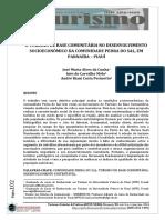 O TURISMO DE BASE COMUNITÁRIA NO DESENVOLVIMENTO SOCIOECONÔMICO DA COMUNIDADE PEDRA DO SAL, EM PARNAÍBA – PIAUÍ