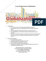 Descriptions on the Phenomenon of Globalization