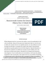 _Reescrevendo Limites De Gênero Através De Objetos Em A Cidade Sitiada_ by De Carvalho, Isadora Grevan - Bulletin of Hispanic Studies, Vol. 93, Issue 8, January 1, 2016 _ Online Research Library_ Questia.pdf