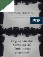 Variedade de Línguas
