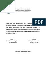 análisis del Mercado del proyecto riego plastic