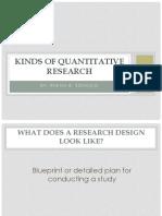 2nd Kinds of Quantitative Research