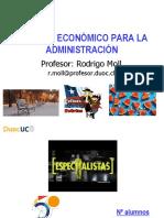01 Análisis Económico Para La Administración 2019 - Clase Nº 0 Semana Agosto 5