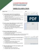 Encoder Written Exam