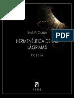 Hermenêutica das Lágrimas - Emil M. Cioran
