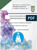 """""""USO DE LAS TECNOLOGIAS DE LA INFORMACION Y LA COMUNICACIÓN DE MEDICOS DE ATENCION MEDICA"""".docx"""
