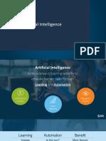 Artificial Intelligence at SAS