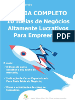 O GUIA COMPLETO - 10 Ideias de Negocios Altamente Lucrativos Para Empreender