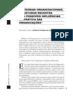 AS TEORIAS ORGANIZACIONAIS, OS ESTUDOS RECENTES E AS POSSÍVEIS INLUÊNCIAS NA PRÁTICA DAS ORGANIZAÇÕes.pdf