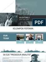 Kelompok I_Auditing SA 520, 530, 540
