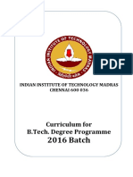 B.tech.Curriculum 2016