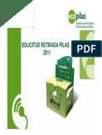 Procedimiento Retiradas ECOPILAS Cartón 2011