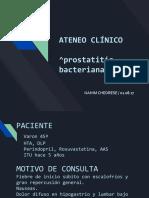 Ateneo Clinico 08.2017 Prostatitis Bacteriana Aguda