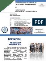 Platica de Residencias Plan x Competencias Ene-jun 2019