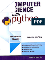 Sumita Arora Class Xi Computer Science With Python PDF