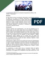 La concentración económica en la industria del espectáculo en México. CIE