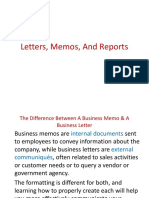 Letter,Memo and Report Lec 2-1-3
