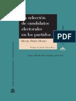 Seleccion de Candidatos electorales en los partidos