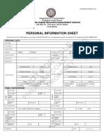 Personal Information Sheet 2017
