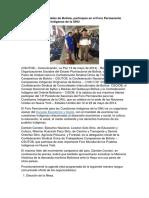 Organizaciones Sociales de Bolivia