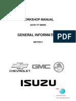 Workshop Manual Isuzu2007