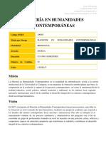 Maestria en Humanidades Contemporaneas PUBLICIDAD
