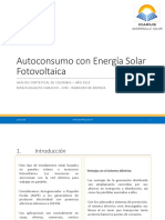 Analisis Contextual Autoconsumo Fotovoltaico en Colombia