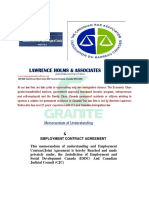1 Granite Construction Inc. Employment Contract Agreement Letter