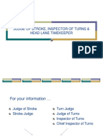 Judge of Stroke, Inspector of Turns & Head Lane Timekeeper