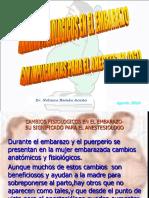Fisiologia Del Embarazo e Implicancia en Anestesia