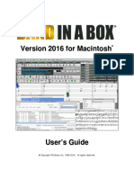 Band in a Box 2016 Mac Manual