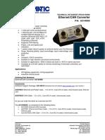 TECHNICAL DATASHEET #TDAX140900 Ethernet/CAN Converter