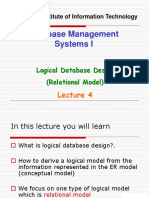 Database Management Systems I - Lecture 4