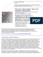 Psychosis Psychological, Social and Integrative Approaches