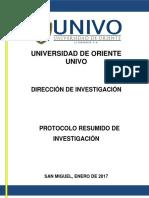Protocolo Resumido de Investigacion