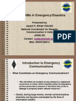 Role of HAMs in Emergency Communications1