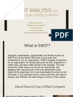 SWOT analysis on second cup coffee