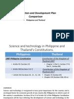 Constitution and Development Plan Comparison