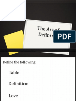 The Art of Defining