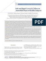 The Effect of Soft and Rigid Cervical Collars on H