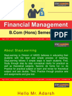 B.com Hons - Sem v - Financial Management