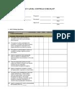 04 Agency Level Controls Checklist