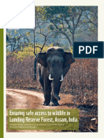 Ensuring Safe Access to Wildlife in Lumding Reserve Forest