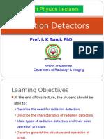 Lecture 9a Radiation Detectors