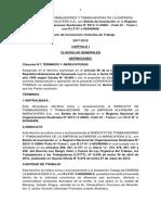 Copia Capitulo i, II III IV v Vi Vii Proyecto de Convención Colectiva de Trabajo 2017-2019