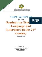 Terminal Report